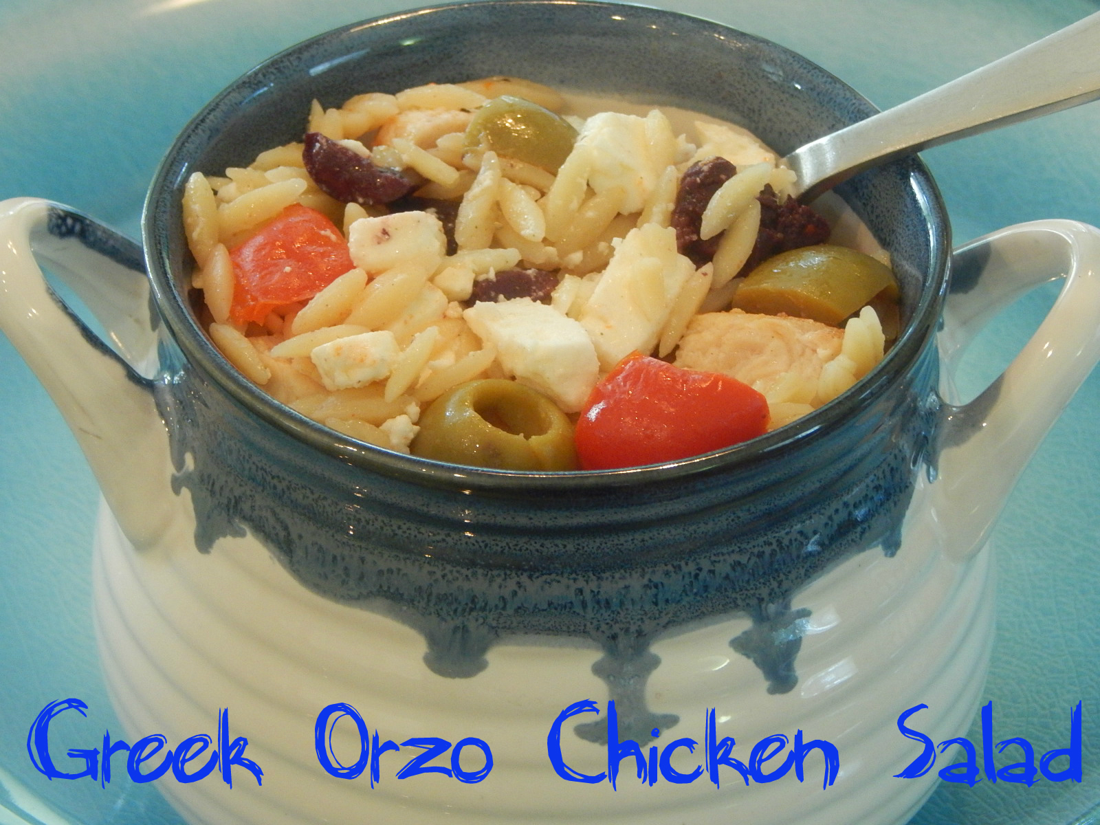 Greek orzo salad cover