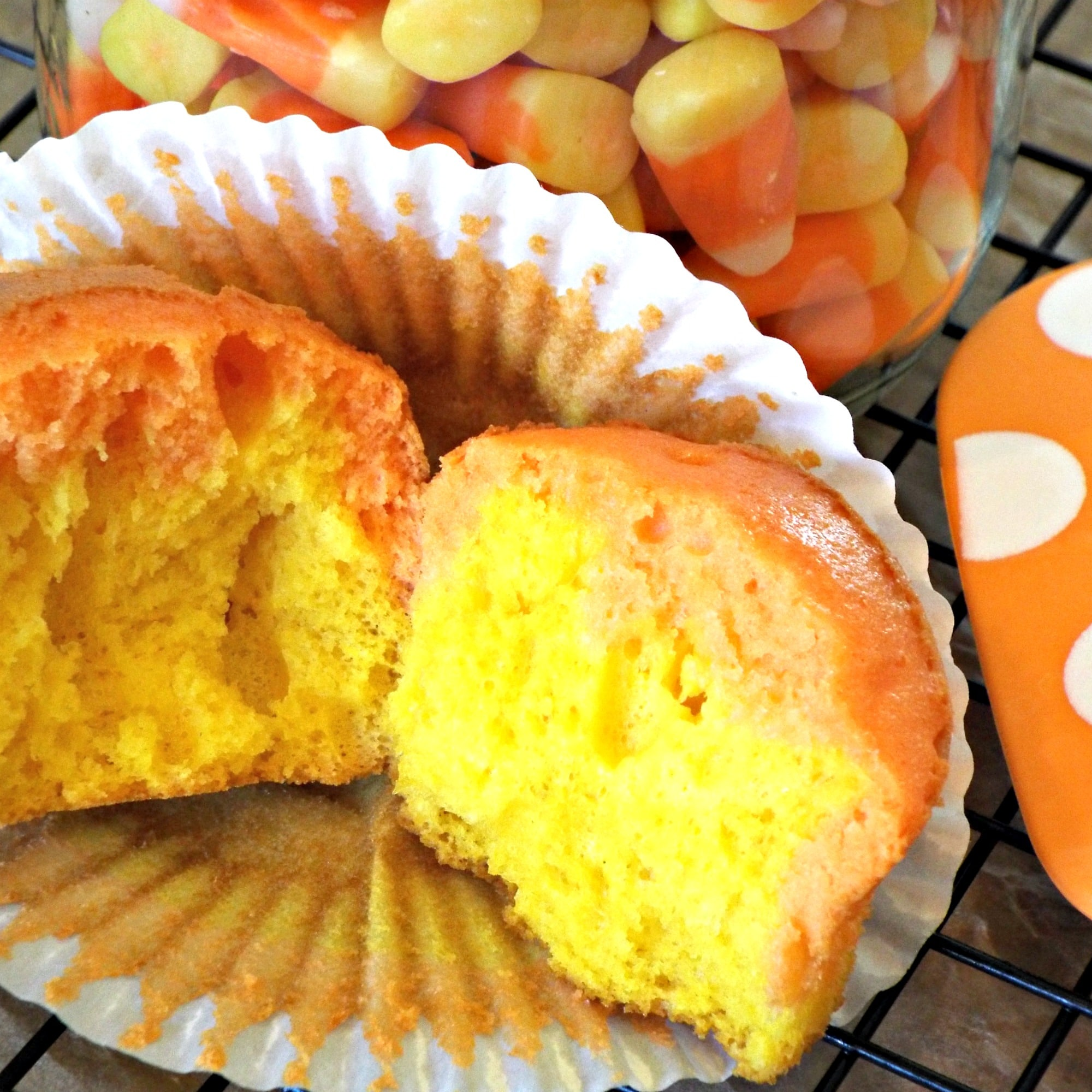 Corn Candy Cupcakes