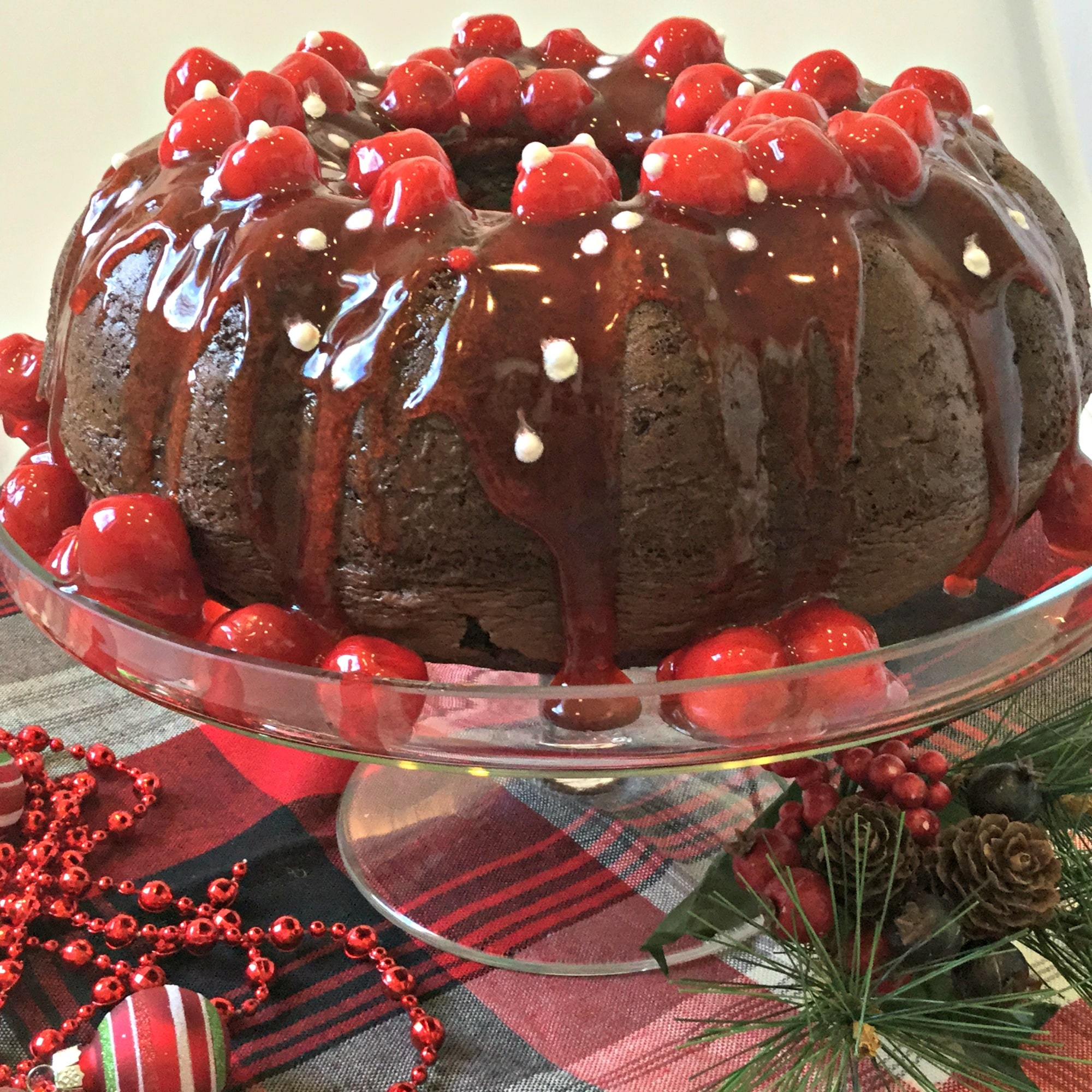 Cherry Sour Cream Bundt Cake
