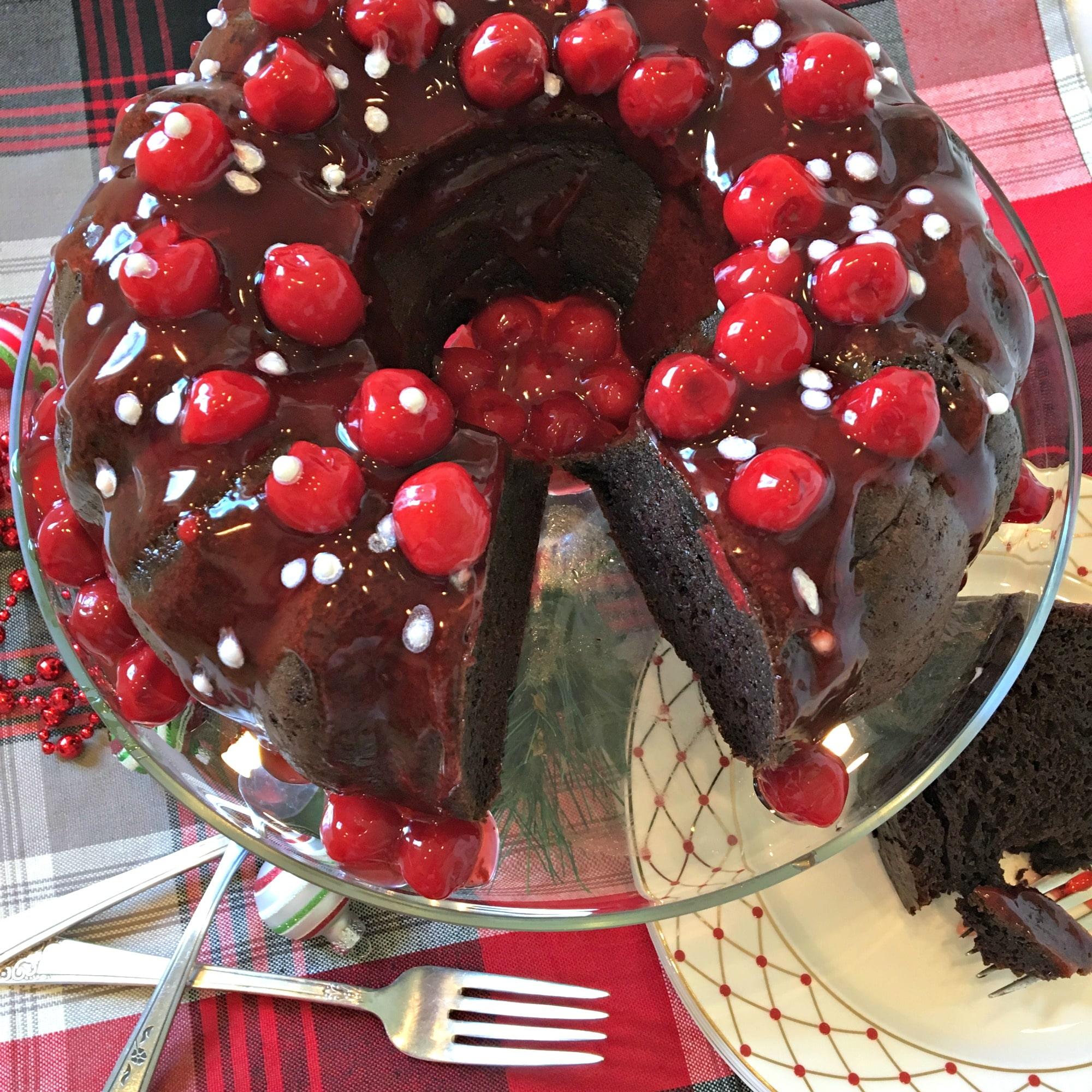 Chocolate Bundt Cake With Cherry Filling