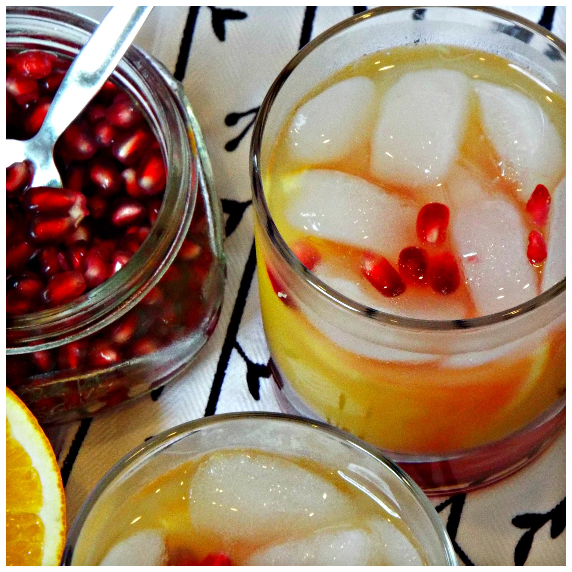 Pomegranate Sunrise Cocktail | Krazy Kitchen Mom