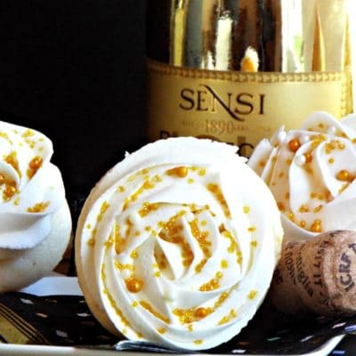 Prosecco Cupcakes with Prosecco Buttercream