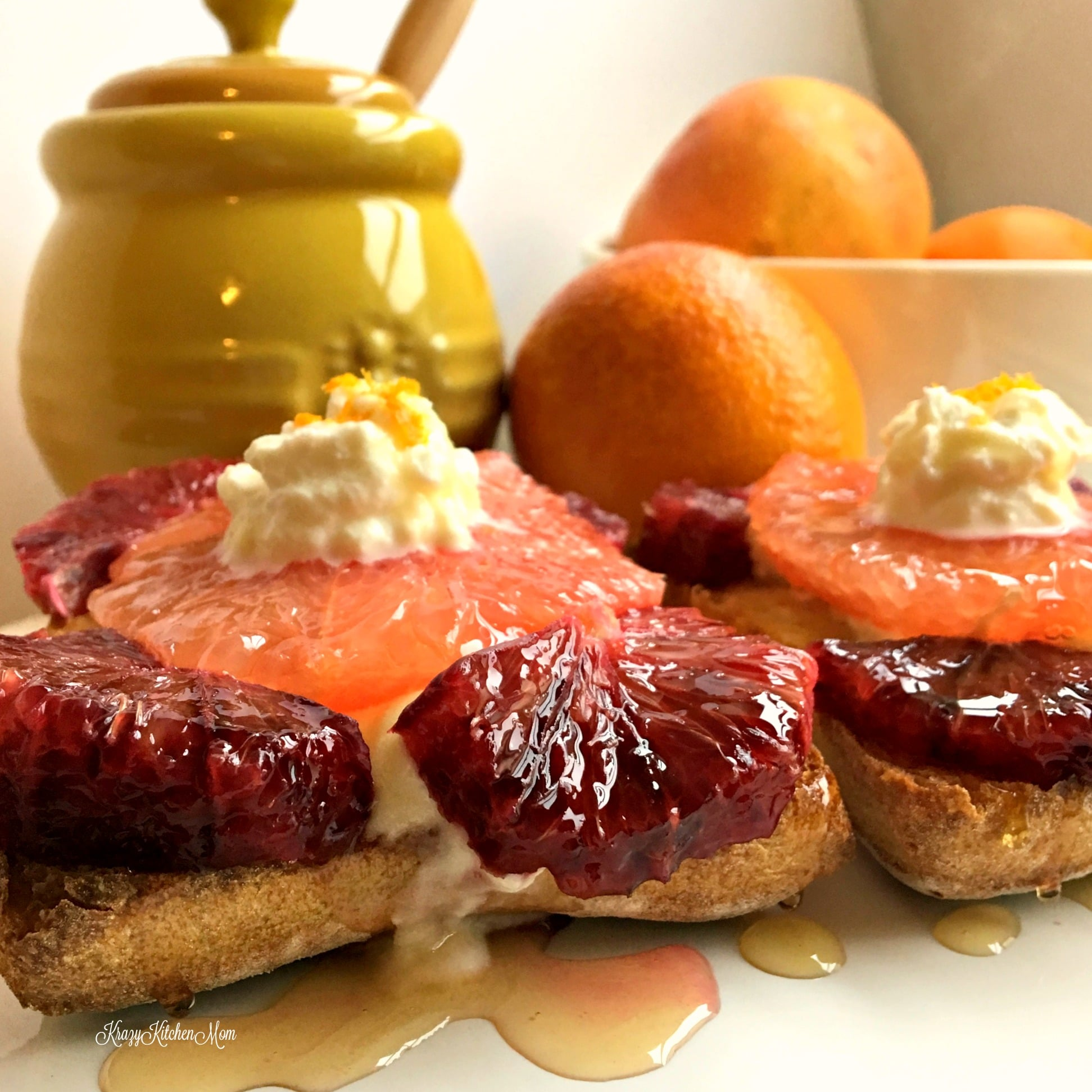 orange and whipped ricotta toast