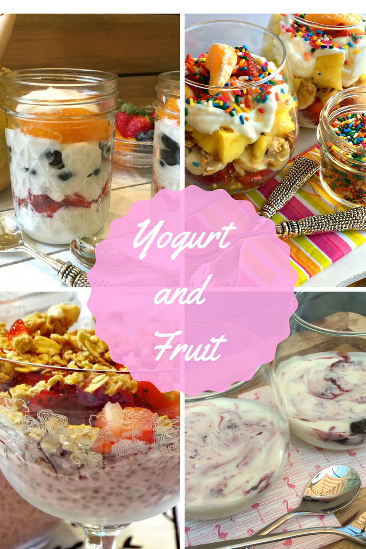 Fruit salad, Greek yogurt, Yogurt Parfait