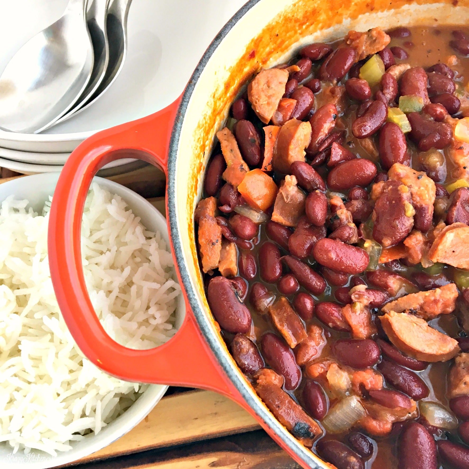 cajun red beans and rice krazy kitchen mom