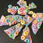 Froot Loops, Cereal Candy, Cereal and milk, Cereal Dessert Bark