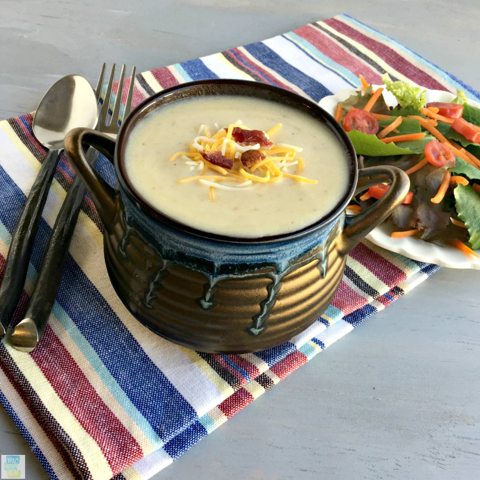 Cream of leek and potato soup krazy kitchen mom cream of leek and potato soup potato soup comfort food forumfinder Choice Image