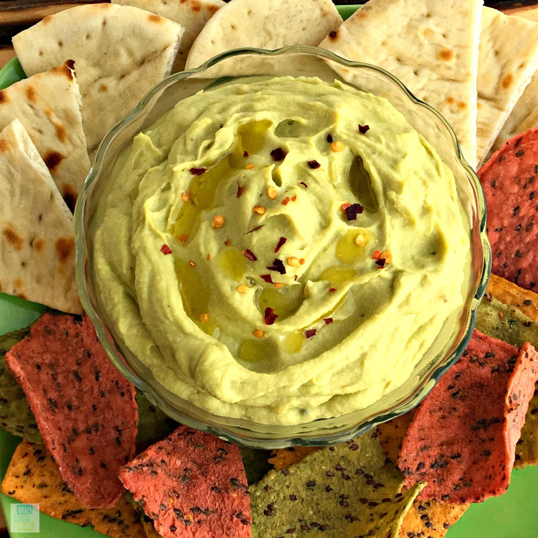 Spicy Avocado Hummus, Avocado Hummus, Hummus