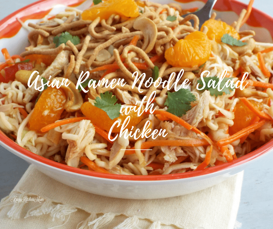Asian Ramen Noodle Salad With Chicken - Easy Low Calorie Recipe