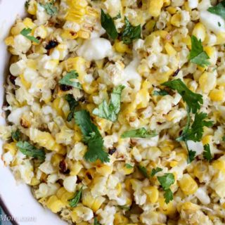 Elote Mexican Street Corn close up