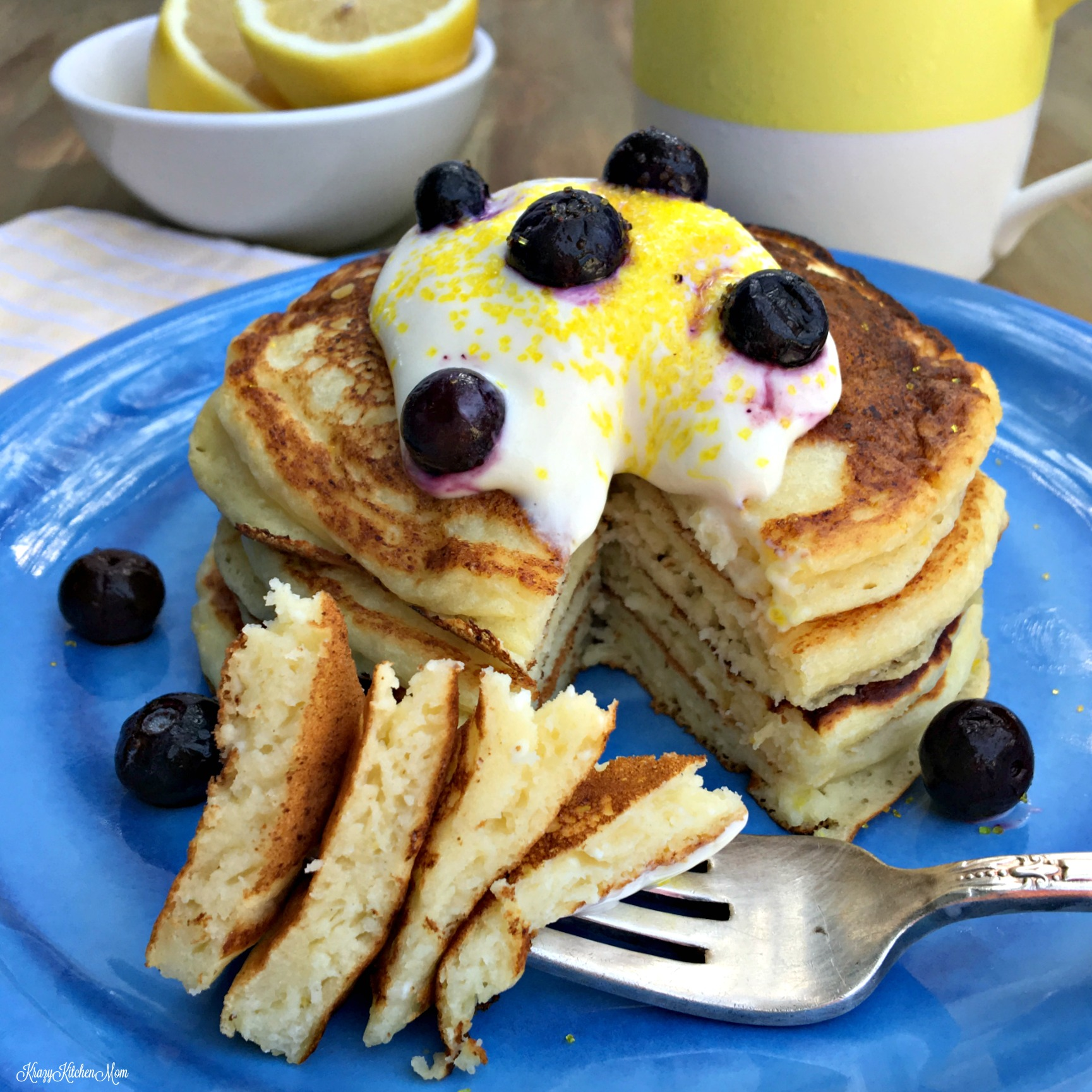 lemon and ricotta pancakes, brunch, pancakes, ricotta pancakes.