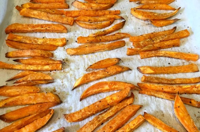 Baked sweet potato fries, healthy fries, baked sweet potato