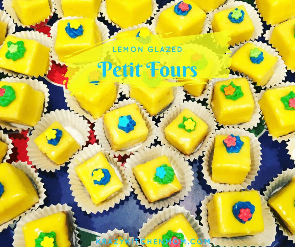 No Bake Lemon Glazed Petit Fours