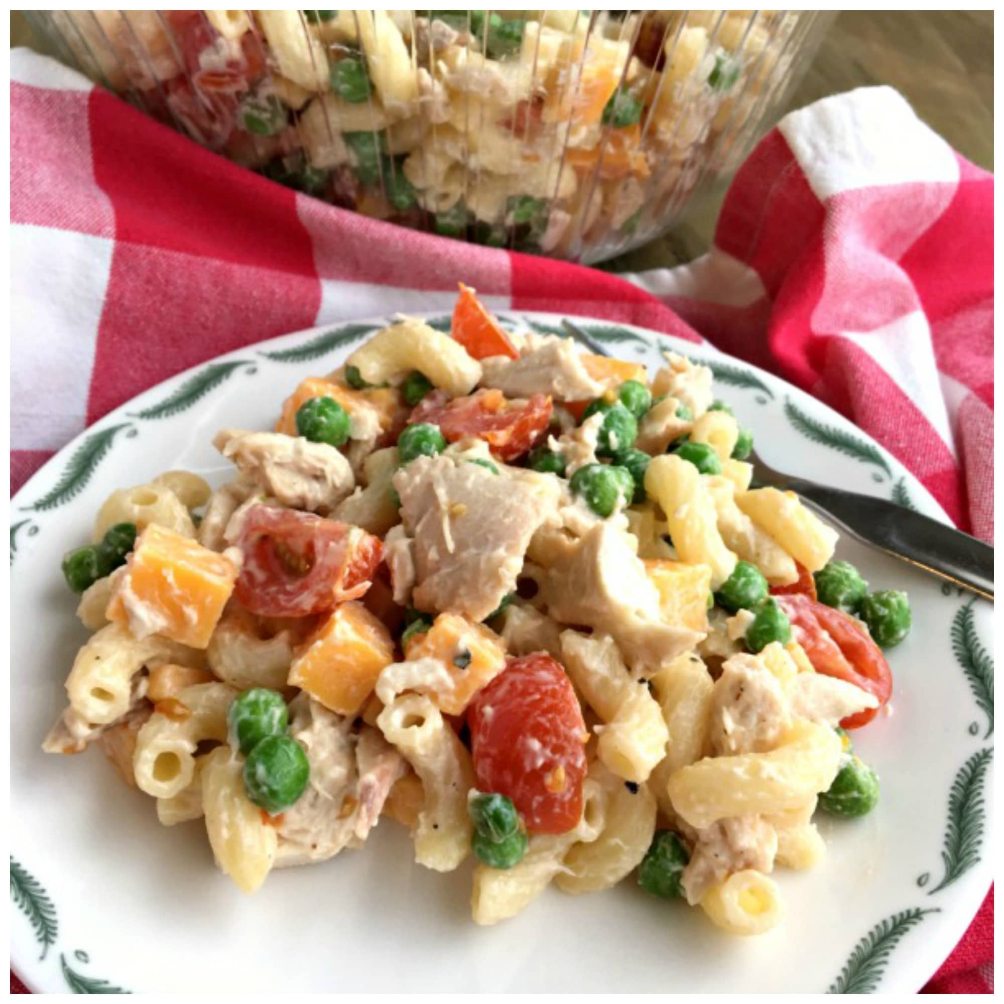 Loaded Macaroni Chicken Salad