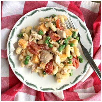 Loaded Macaroni Chicken Salad