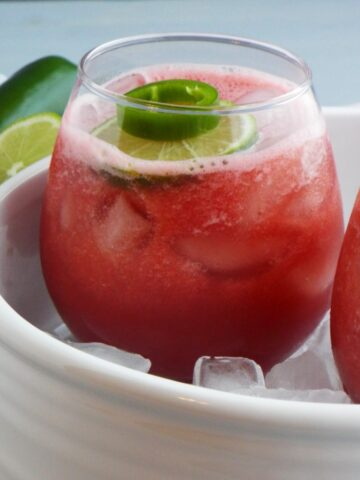 Skinny Watermelon Jalapeno Cocktail
