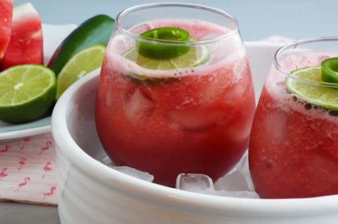 Skinny Watermelon Jalapeno Cocktail