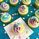 Coconut Cream Unicorn Cupcakes
