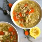 easy Greek Lemon Chicken orzo soup