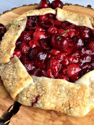 How to Make a Rustic Cherry Galette