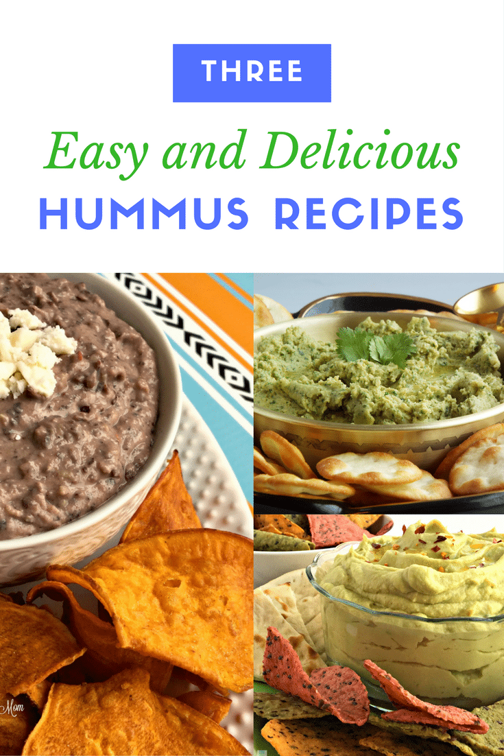 three easy hummus recipes