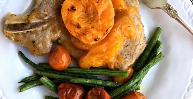 Apricot Brandy Glazed Pork Chops
