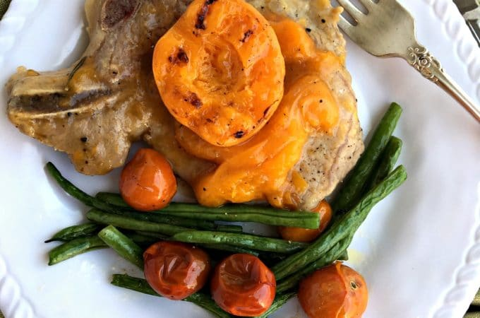 Apricot Brandy Glazed Pork Chops
