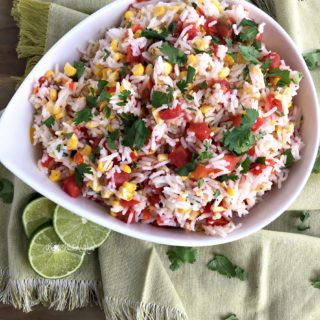 Fiesta Rice Salad with Honey Lime Dressing