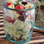 Greek Style Panzanella Salad