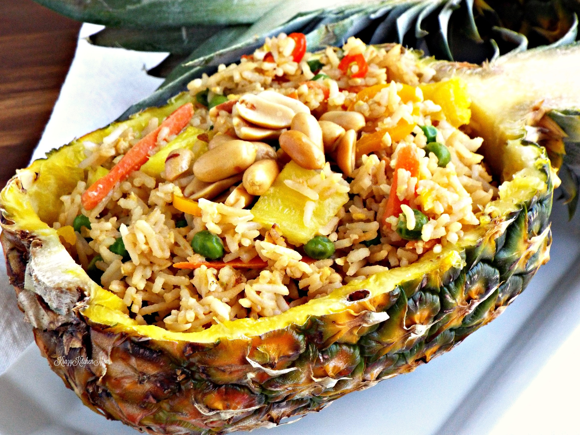 Pineapple Fried Rice Boat