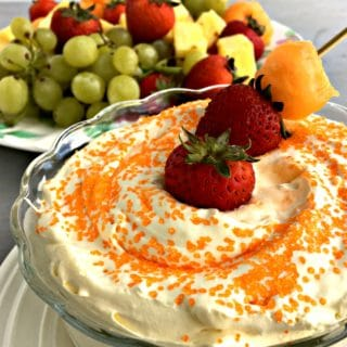 Three Ingredient Orange Fruit Dip