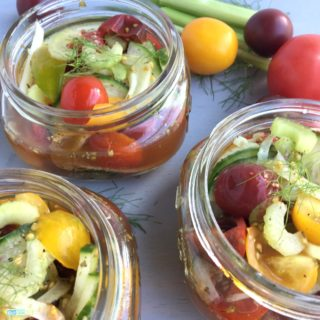 Cucumber Tomato Summer Salad