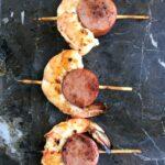 Jennie-O Turkey Kielbasa and Shrimp Skewers