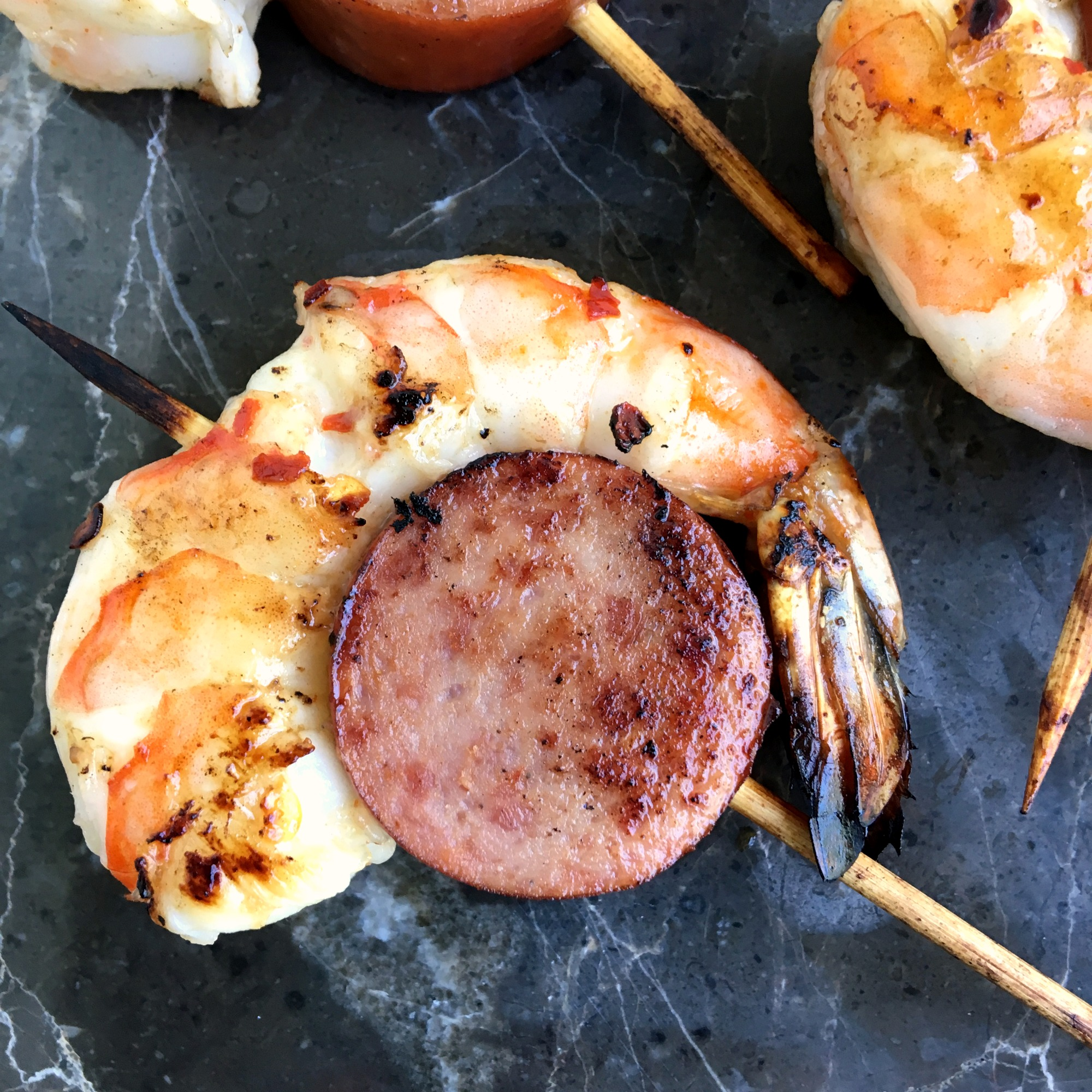 Jennie-O Turkey Kielbasa and Shrimp Skewers