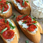 Roasted Tomato Ricotta Crostini