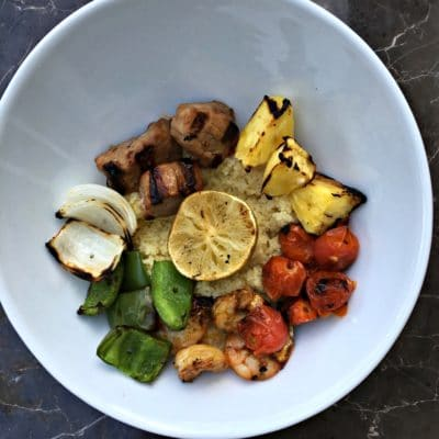 Grilled Shish Kabob Quinoa Bowl