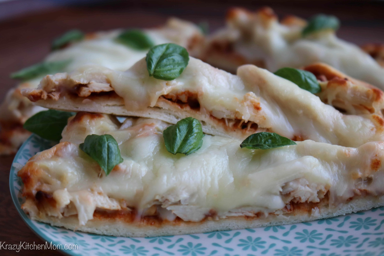 Rotisserie Barbecue Chicken Flatbread Pizza