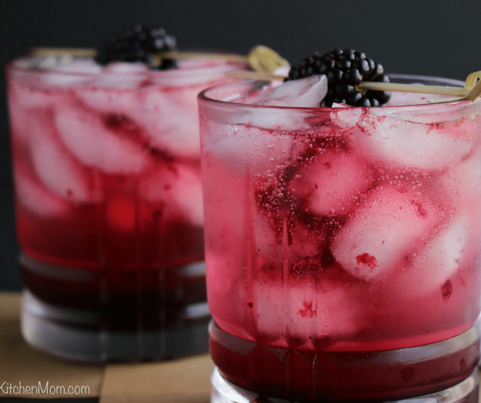 Skinny Double Berry Vodka Spritzer