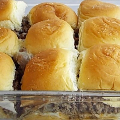 Cheesy Ground Beef Sandwiches