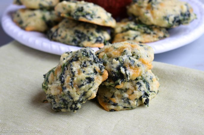 Cornbread Spinach Cheese Bites