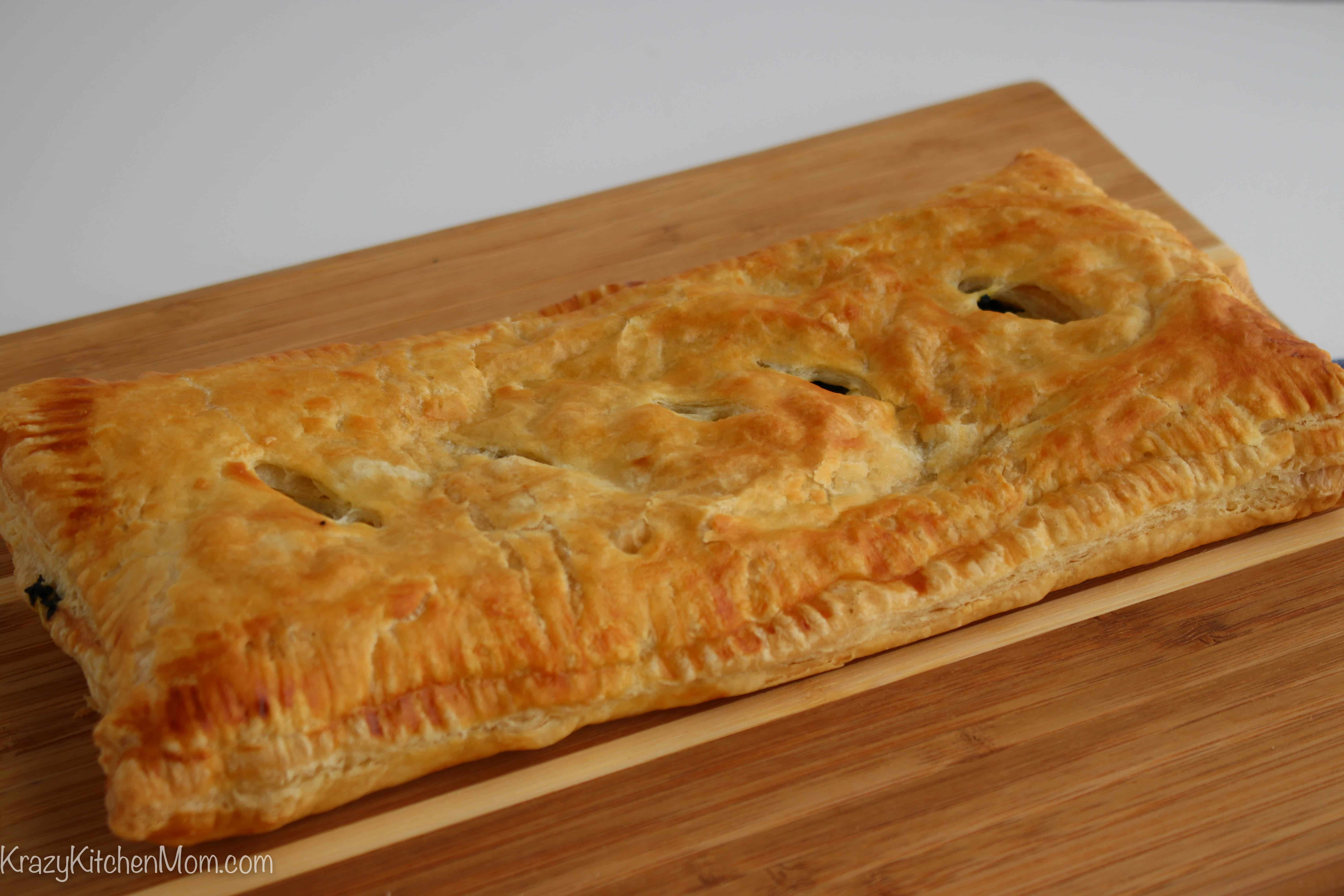easy greek baked puff pastry spinach pie