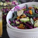 Shaved Brussels Sprout Kale Salad bowl