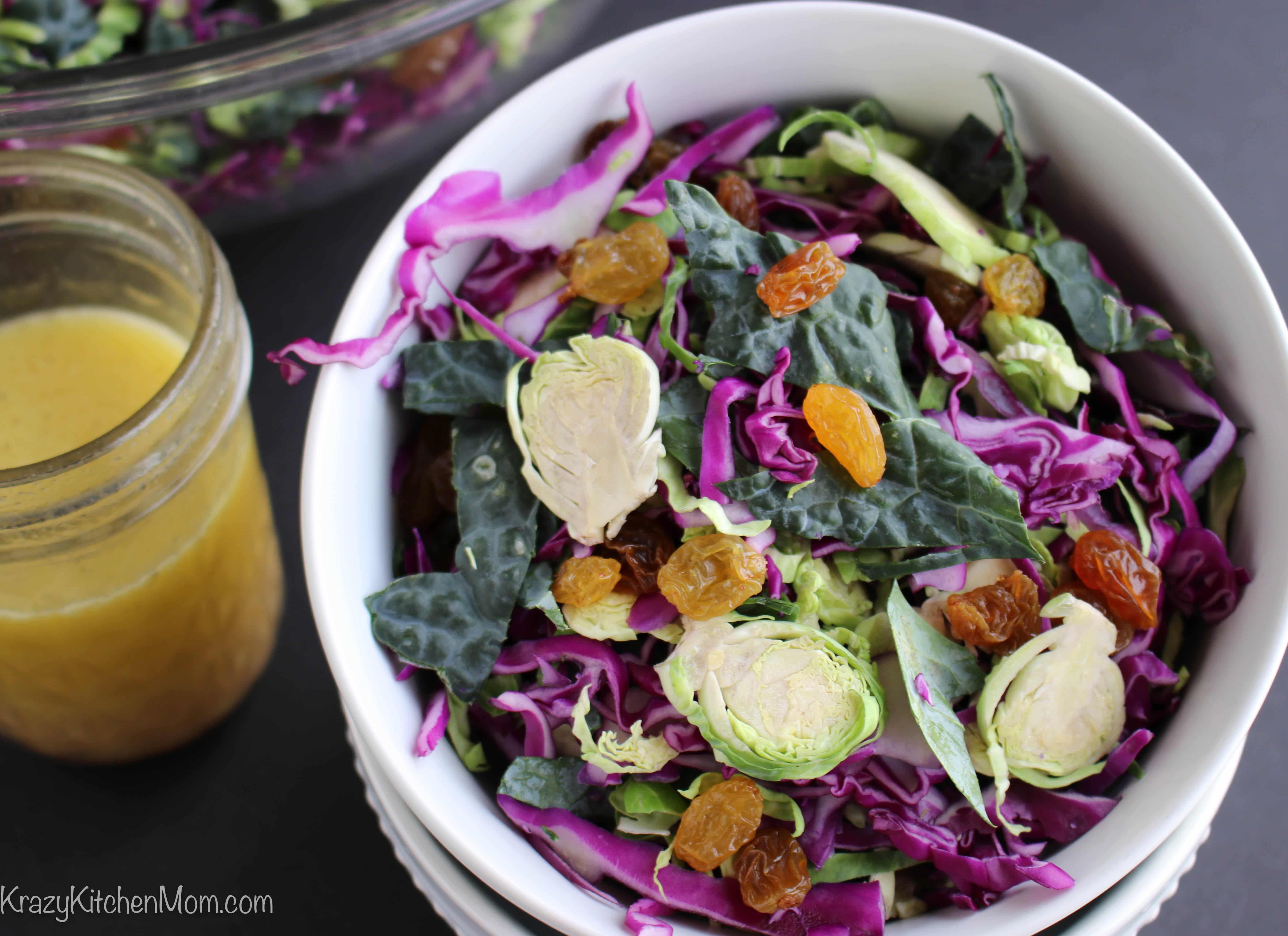 Shaved Brussels Sprout Kale Salad