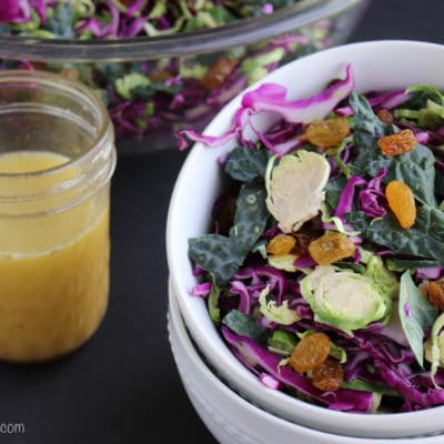 Shaved Brussels Sprout Kale Salad