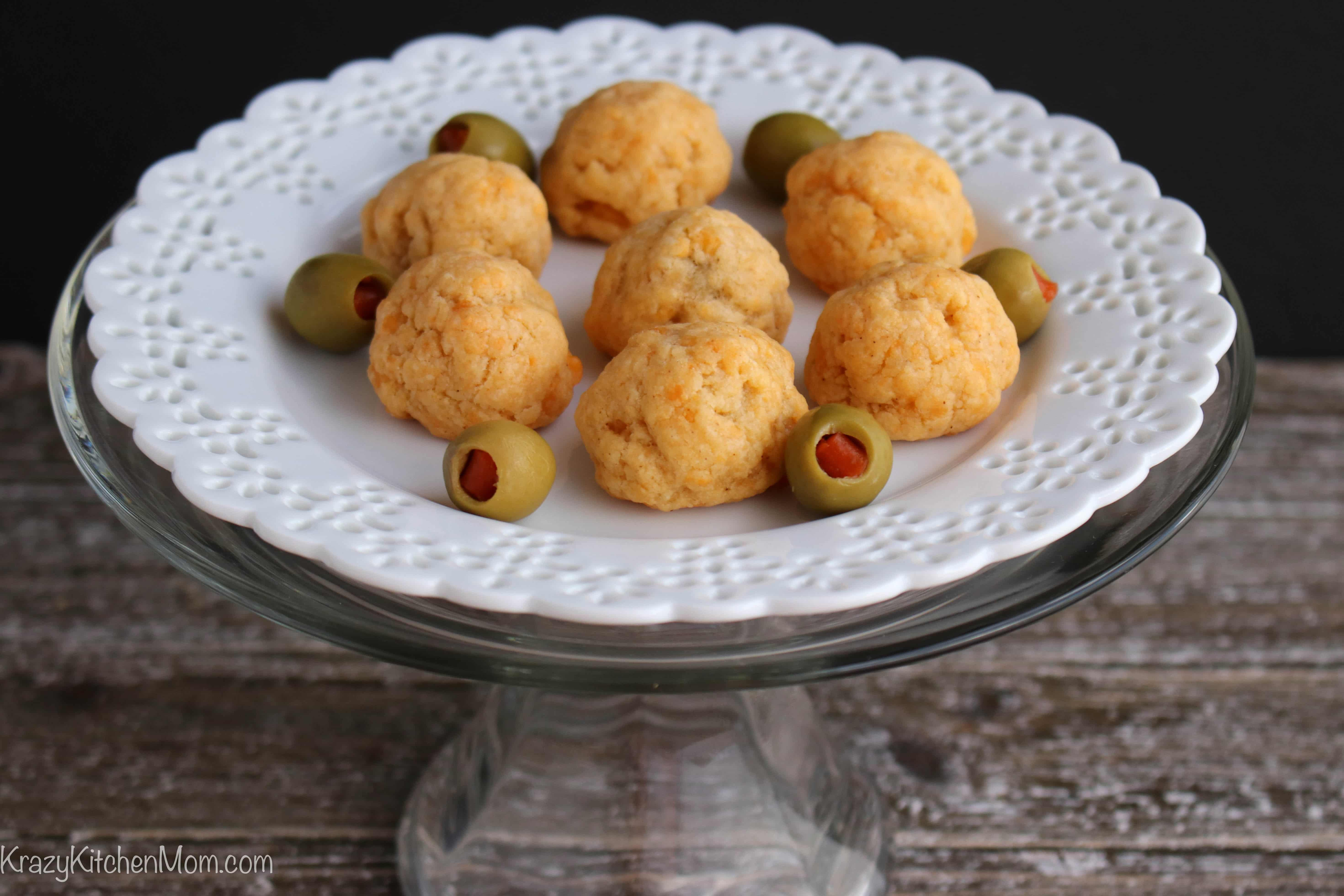 Four Ingredient Olive Cheese Bites