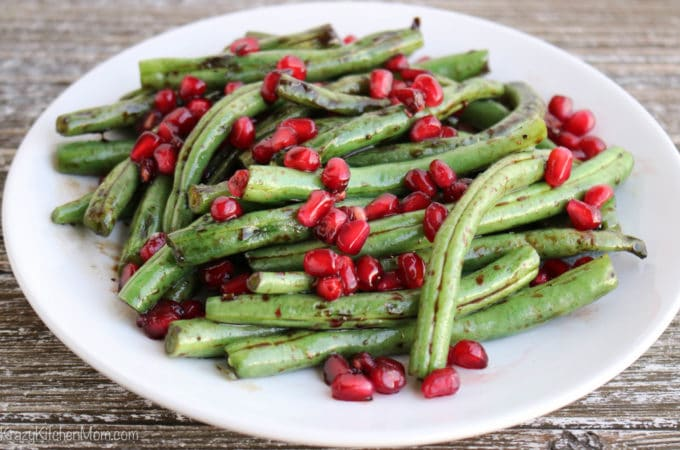 Blistered Balsamic Glazed Green Beans
