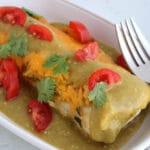 Roasted Turkey Enchiladas Verdes