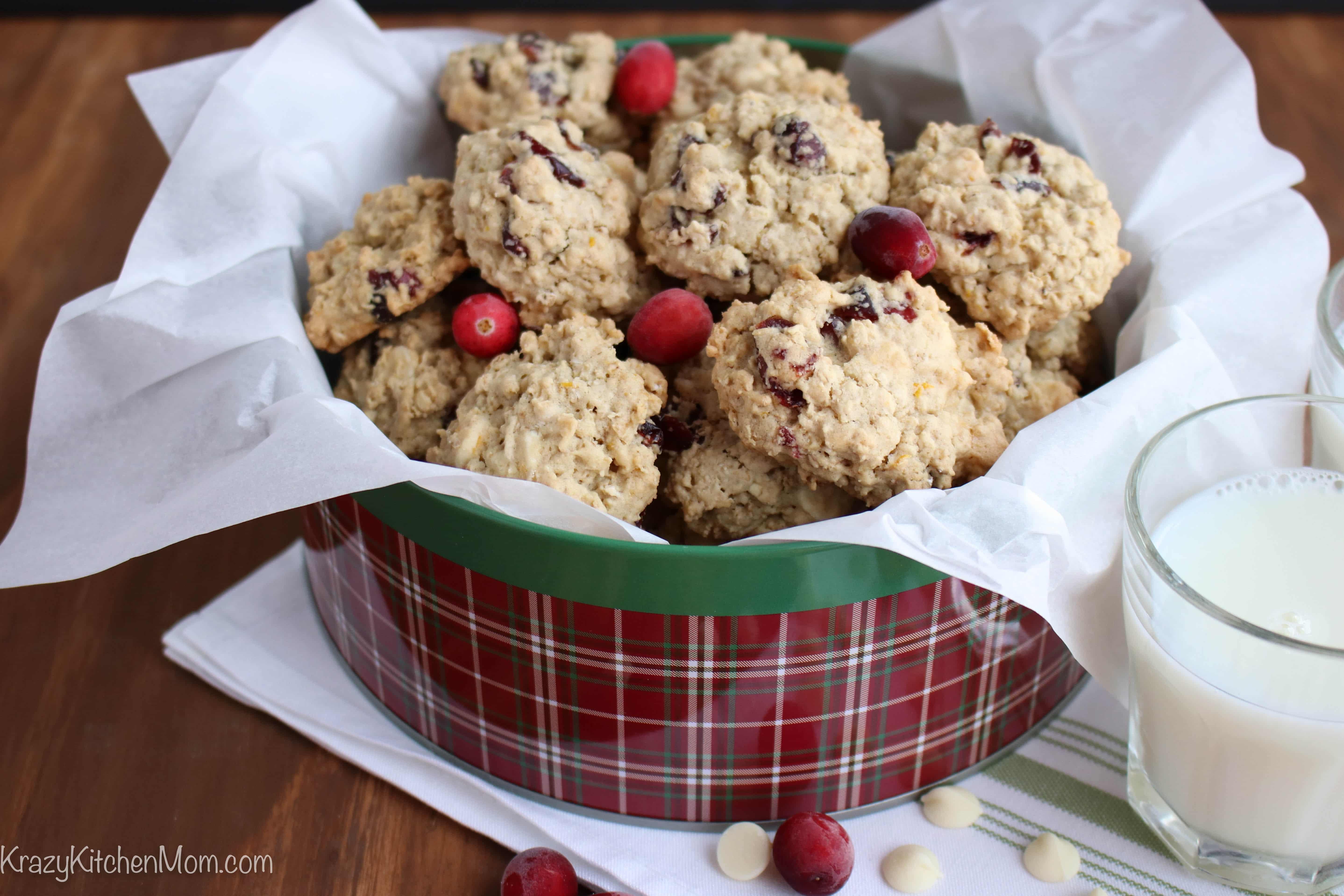 Orange Cranberry Oatmeal Cookies