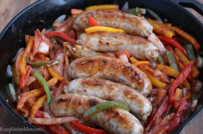 Sausage, Onions and Peppers
