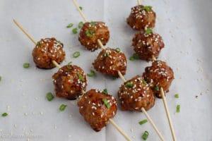 Asian Style Chicken Meatballs